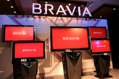 Bravia store with Bravia Televisions