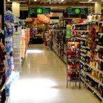 View of supermarket aisle